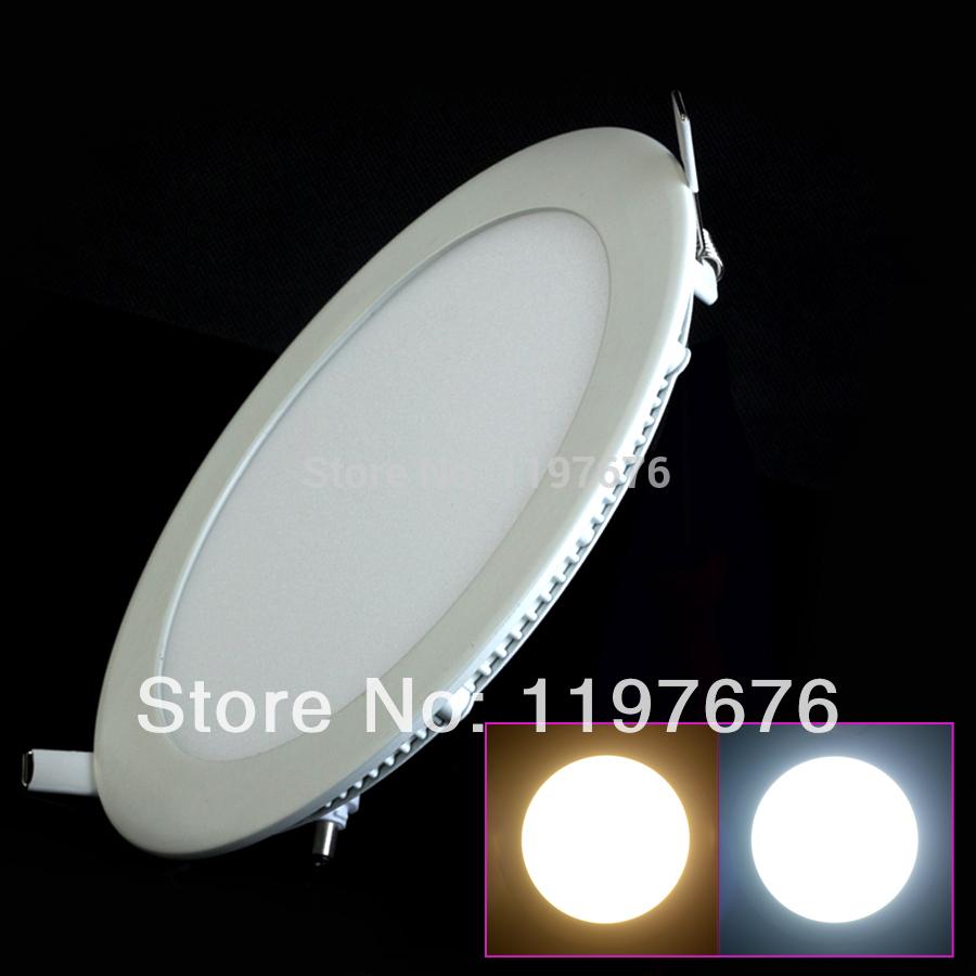 Livraison gratuite 3w/4w/6w/9w/12w/15w/25w panneau d'éclairage led plafonnier downlightac85-265v, chaude/blanc froid, éclairage intérieur