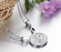 "2014 New Fashion Stainless Steel Lovers Matching Music Note ""I Love You"" Pendant Necklace Pair, Good Gift For Men Women"