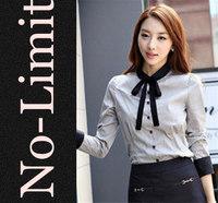 2014 new Casual shirts Womens Cotton Formal shirt ladies Long sleeve blouse women Solid shirts blusas blusa