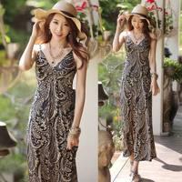 Free shipping long fomal evening dress 2014 new arrival double V-neck mermaid floor-length prom dresses women vestido de festa
