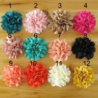 2014 Children headdress baby flower  8CM wave edge hollow handmade cloth DIY flowers 100pcs/lot