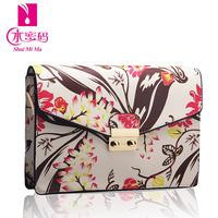 New 2014 day clutch female fashion big fashion flower print messenger bag female bags