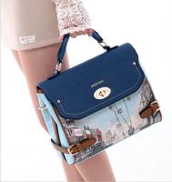 New Bags 2014 spring doodle female flower oil painting bag handbag bag fashion trend of the women's handbag
