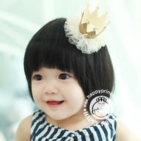 Cute Kids Girls Princess Crown Headband Birds Hair Wear Hair Clips Ribbon Headdress 5 Colors Drop Shipping Free Shipping