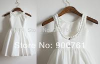 Vintage Inspired Ivory Cotton Flower Girl Dress Baby Girl Toddler Dress with Button vestido de daminha vestido de festa infantil