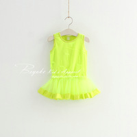 Wholesale,5 pcs/lot,3 color,girl's new summer net one-piece dress ,female children's clothing,factory direct freeshipping