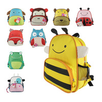2014 canvas bag children backpacks Cartoon zoo Animal Canvas Backpack waterproof school bags