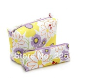 2014  brand flowers cosmetic bag for women ladies fashion cosmetic case high capacity wash bag