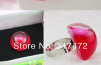 2014 NEW!20sets/lot 25mm half Round Ball Liquid Rings,glass bubble Liquid rings,Glass Globe Bubble Vial rings,glass bottle ring