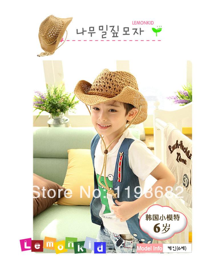 The new LEMONKID children's sun hat Cowboy Hat Baby sun hat(China (Mainland))