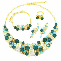 big  stone african  jewelry sets fashion jewery set wedding jewelry set 18k gold set