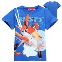 2014 Fashion Baby boys girls Summer Cute Planes Dusty Kids t-shirt clothing 100% cotton children summer top tees