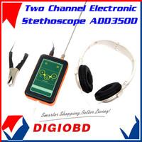Two Channel Electronic Stethoscope ADD350D Car Truck Automotive Noise Sensor Finder+High Sensitivity Long & Short probe+Earphone