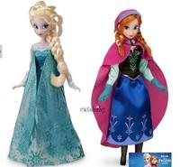Retail frozen princesses doll 2014 new cute Anna Elsa mini baby doll action figures frozen dolls toys 2pcs set classic toys