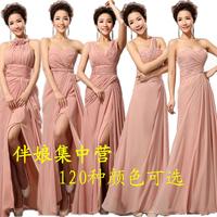 Bridesmaid dress bridesmaid long design married the bride long design formal dress one shoulder dress chiffon 2014