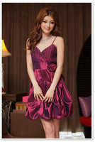 Free Shiping Polyester Women's Sleeveless Festival Party Dress Sexy Lady Gown Formal Evening Dresses