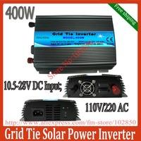 400w mppt solar inverter pure sinie wave on grid,10.8-28V DC input,120V /230VAC output, free shipping