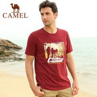 Camel outdoor Men T-shirt short-sleeve summer short-sleeve casual o-neck cotton t-shirt a4s209010