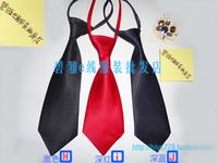 Student school uniform zipper automatic tie casual short design tie