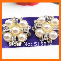 Pearls and rhinestone button for wedding ,clothes 200pcs/lot