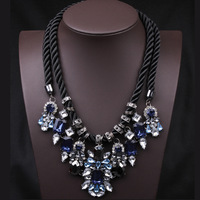 2014 Special offer women's Gorgeous Crystal gems choker Necklaces & Pendants brand statement necklace for ladies T21