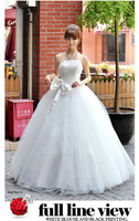 High Quality Off Shoulder Chest Wrap Chiffon Lady Bride Wedding Dresses Party  Bridal Dress