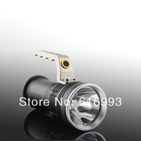 T6 800 Lumens CREE  Searchlight Brightest Portable Rechargeable Hand LED Flashlight lamp for 2x18650-free shipping  LED2002