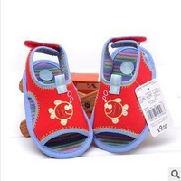 original brand fashion summer infant toddler new born baby boy first walkers fish cotton soft sole 11-12-13cm 0-18month F001