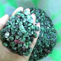 Hotsale natural epidote crystal quartz raw stone gravel beads/multi-colored fish tank stone/flower vase decorationstone