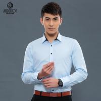 2014 spring shirt slim long-sleeve shirt easy care male business casual shirt fashion