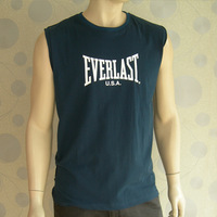 Free shipping Everlast male sports casual full cotton o-neck sleeveless vest pullover wholesales