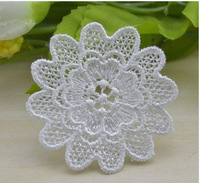 30pcs/lot free shipping High Quality DIY women dress clothing accessories water soluble Flower Applique Lace Patches