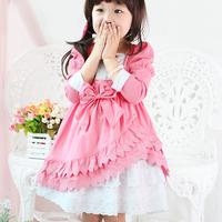 girl dress child one-piece dress female dress child big boy  one-piece dress children's clothing set 2014