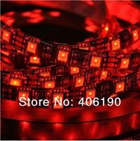 Black PCB IP65 Waterproof LED Strip Flexible Rope Light 5050 SMD 60LEDs/meter 300LEDs/5 meters single color