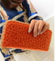 women wallet long PU leaher wallet holder good quality zipper pocket multi-color fashion clutch wholesale