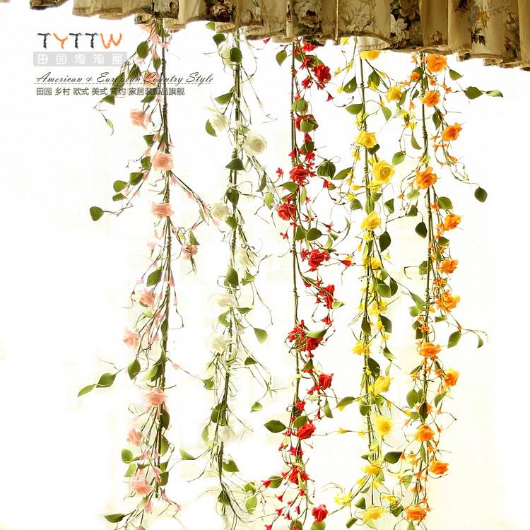 Eva artificial flower rose artificial flower vine home decoration wall decoration rattan(China (Mainland))