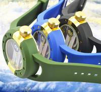 Fashion men sports watch men clock military pilots Army style silicone watch men luxury silicone wristwatch Free Shipping