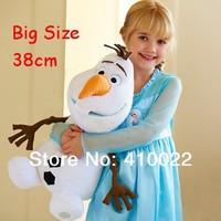 2014 new frozen lovely OLAF snowman plush toys stuffed doll 15'' 38cm Big size popular children gift