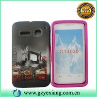 Fashion design combo case for alcatel OT4030 2 in 1 Phone case