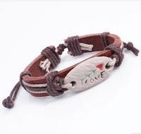 Q3411  Stone mandrel tribal totem tribal bracelet personalized jewelry pottery bone  B2