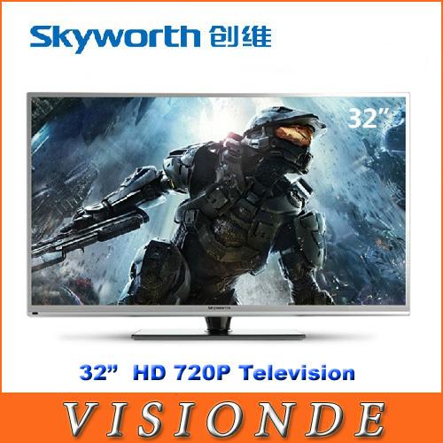 "Hot Sales HD 720P Original Skyworth 32E5CHR LCD LED 32"" Home Televisions With USB Ultra-thin LED Flat Panel TV Television(China (Mainland))"