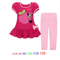 Free shipping! 2014 new Wholesale 5 sets/lot. Girl leisure suit. Cartoon suits.Children's sports suits. 100% cotton summer suit.