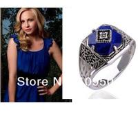 Fashion Classic the Vampire Diaries Caroline Punk Ring Vintage Ring Damon Jewelry Movies Drama Jewelry ZR10
