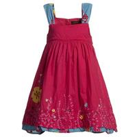 Super beautiful CATIMINI 2014  fashion children dress 100% cotton embroidered girls dress hotsale designer kids dress for girl