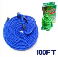 1pcs/lot Expandable rubber Hose EC Standard 100FT Garden water Hose expandable flexible hose Garden hose with Spray Gun