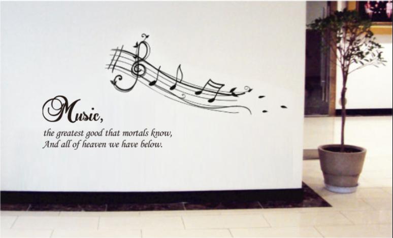 Crire des notes de musique magasin darticles for Decoration murale note de musique