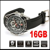 Infared Night Vision 16GB Waterproof Watch mini Camera DVR 19201080P sport watch camera
