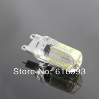 New G9 Silica Gel 5W 64 LED 3014 SMD Warm/Pure White Light Lamp For Living Room AC 200-240V Room Lighting drop shipping