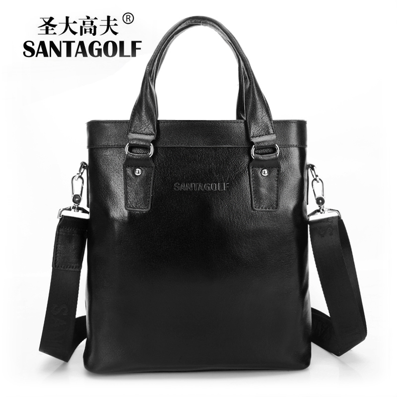 Handbags,genuine leather golf commercial man bag male cowhide handbag briefcase bag male shoulder messenger bag(China (Mainland))