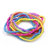 Bracelet  bohemia beaded multi-layer multi-colored elastic jewelry women